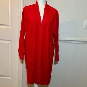 Red Sweater Coat Sz 1X NWT